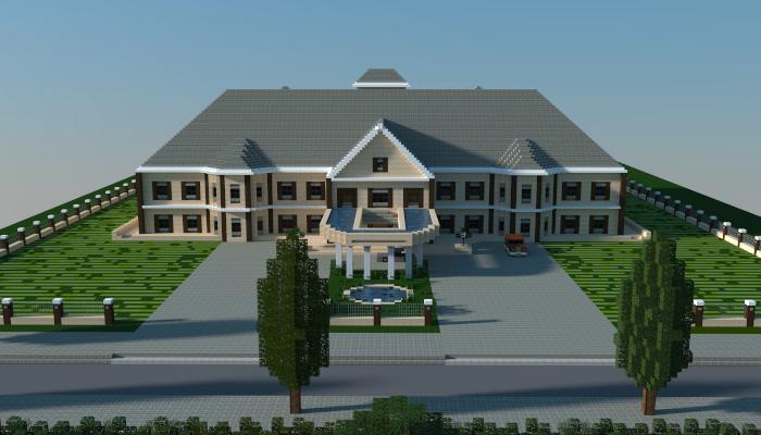 Modern mansion by jar9 minecraft houses pinterest for Minecraft casas de lujo
