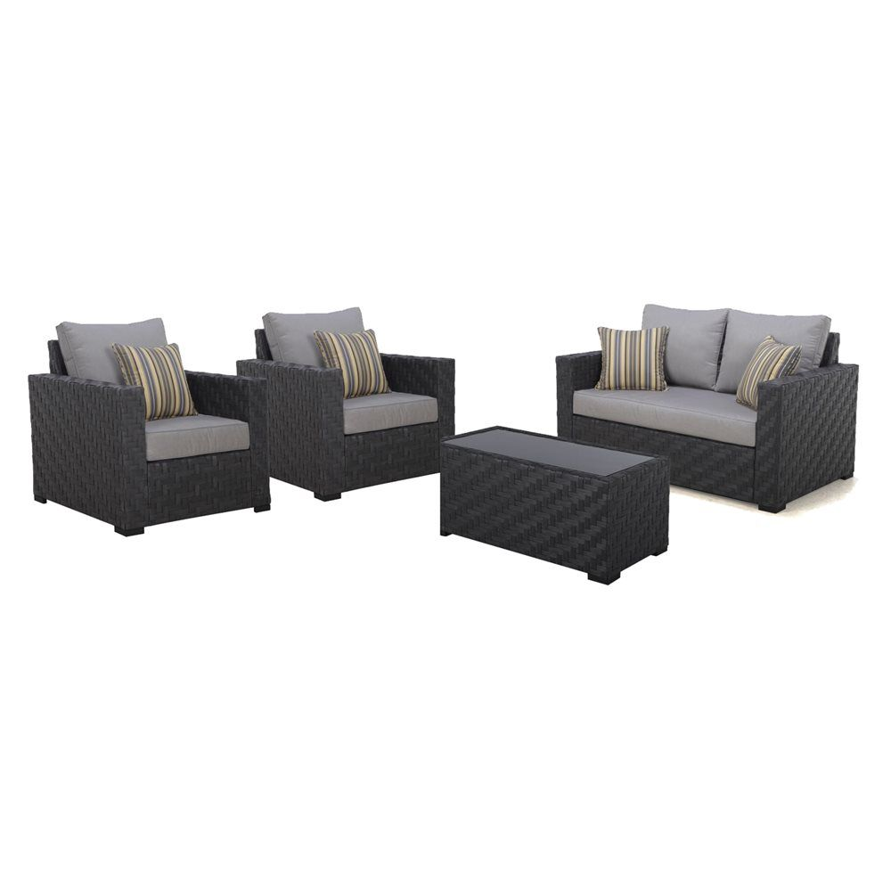 Shop allen   roth Dorchester Conversation Set at Lowe s Canada  Find our  selection of outdoor conversation sets at the lowest price guaranteed with  price  allen   roth Dorchester 4 Piece Conversation Set   Lowe s Canada  . Lowes Outdoor Living Sets. Home Design Ideas