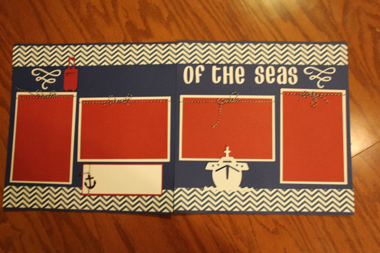 Scrapbook ideas names - Cruise 12 X 12 Premade Scrapbook Layout
