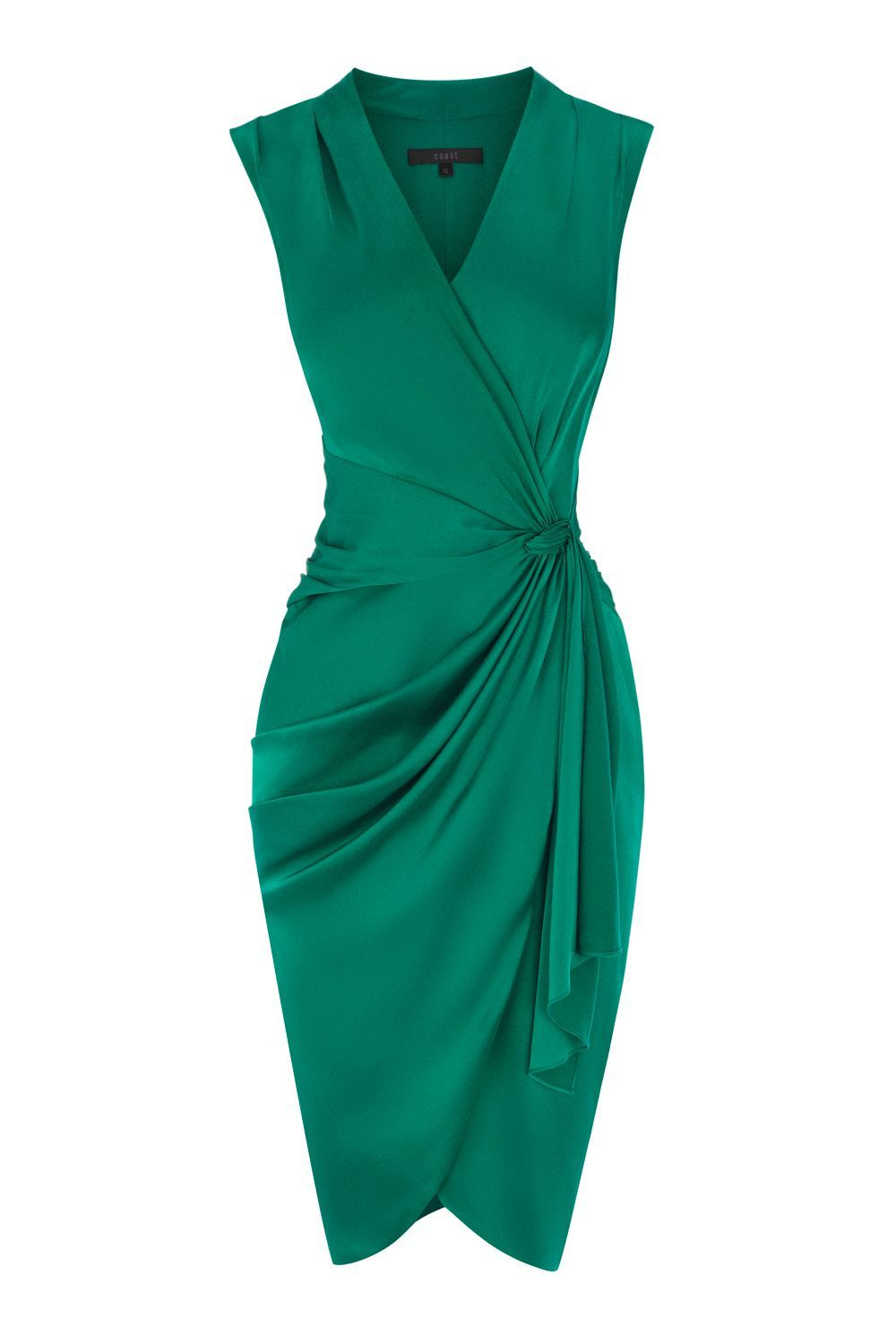 Women\'s Green Lavinia Gathered-Satin Dress | Emeralds, Satin dresses ...
