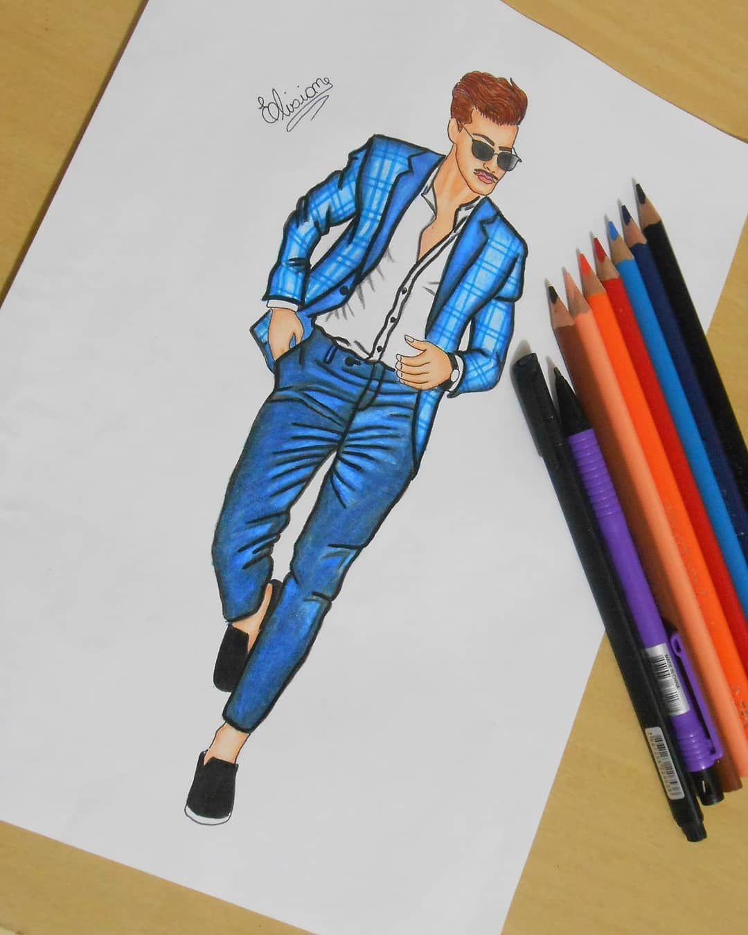 Enfim Meu Primeiro Look Masculino Finalizado Sempredesenhando Croquidemoda Desenhodemoda Fashion4arts Look Masculinos Ilustracao De Moda Look