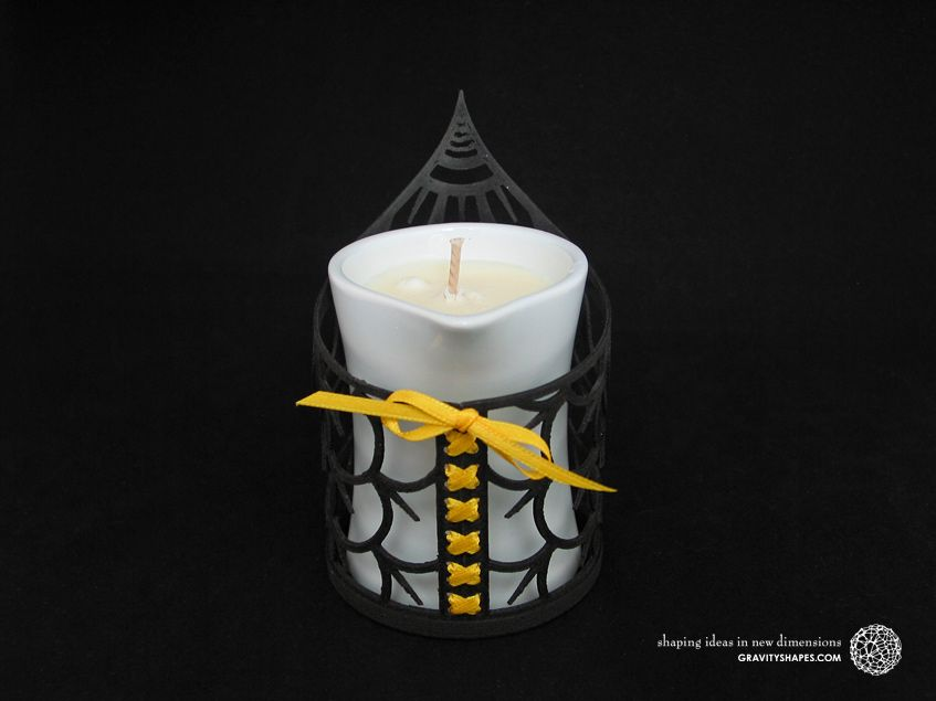 3d Print By Gravityshapes Tealight Holder With Petits Joujoux Massage Scented Candle In Porcelain Container Yoga Teelichthalter Kerzen Duft