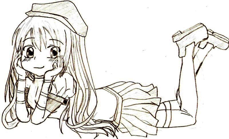 Photoshop cs5 colorier un personnage manga dessin - Personnage a colorier ...