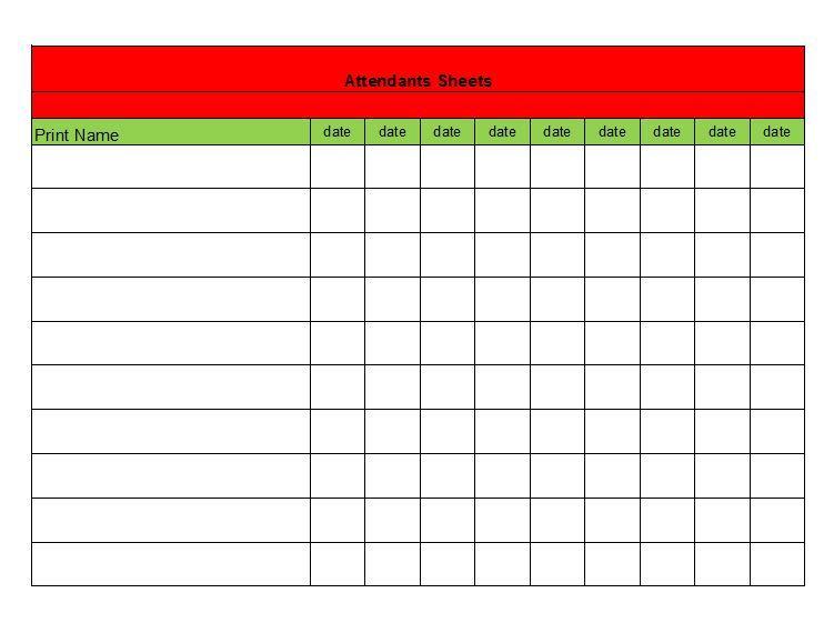 Attendance Sheet 31 Architecture Pinterest Attendance sheet - food sign up sheet template