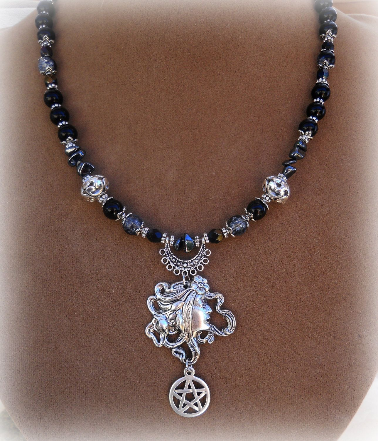in spirit pendant owl magick necklace products sterling knowledge occult silver hecate
