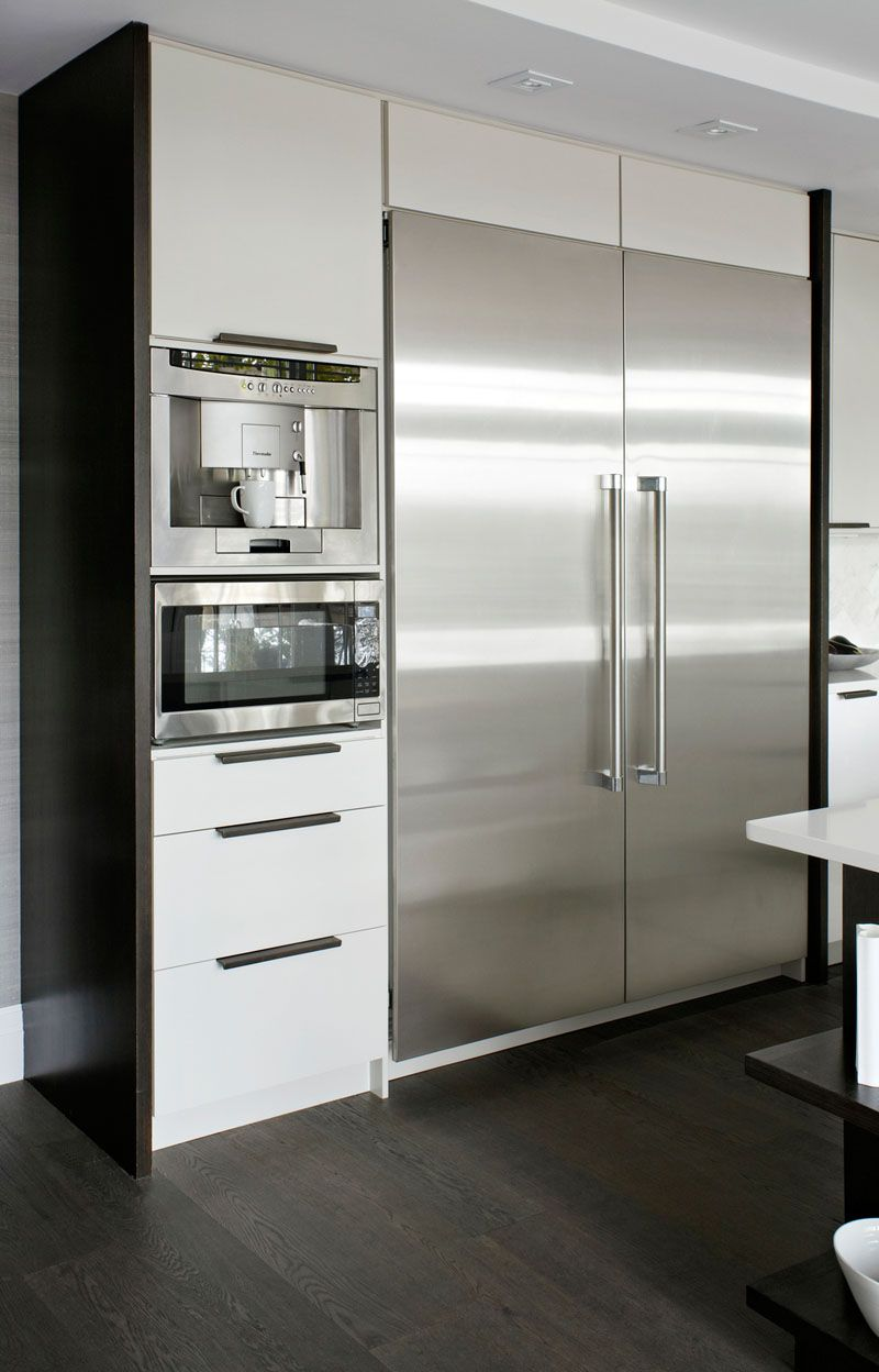 9 Examples Of Kitchens With Built In Coffee Machines The Fully Automatic Maker Adds Convenience And Style To This Modern Kitchen