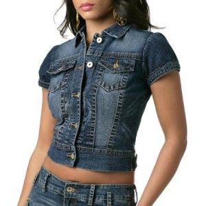 Crop Short Sleeve Denim Jacket | Denim jackets, Short sleeves and ...