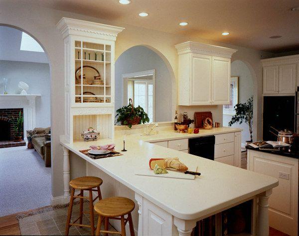 Corian 174 Kitchen In Vanilla Corian 174 Solid Surface