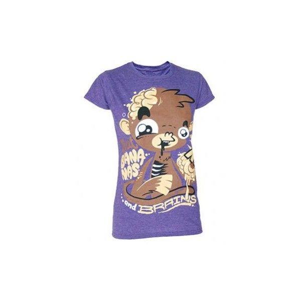 Girls Banana Brains Skinny Fit Purple Scene T-Shirt ($21)