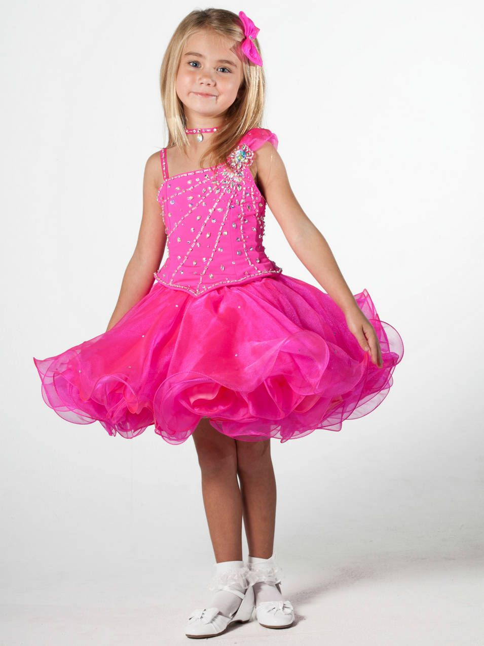 2 pink color 2014 kids fancy party dress collection | Prom Dress ...