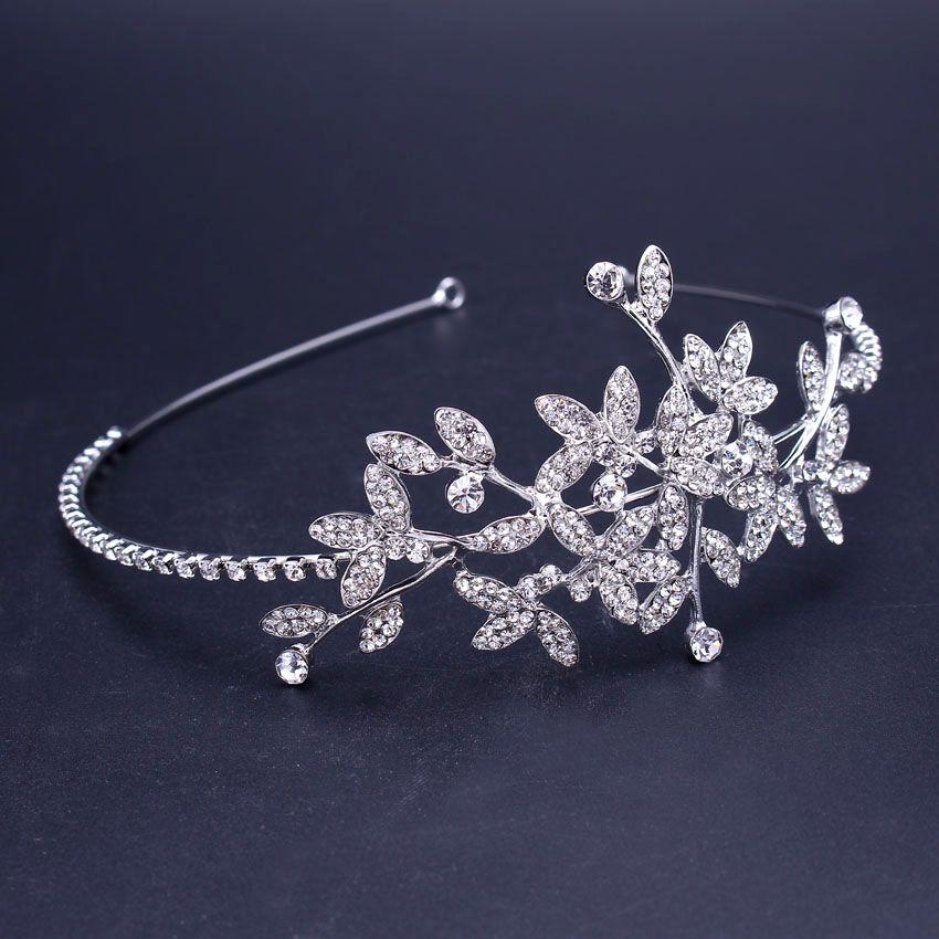 Haarnadeln Haarschmuck Braut Perlen Kristall Tiara Diademe Blumen