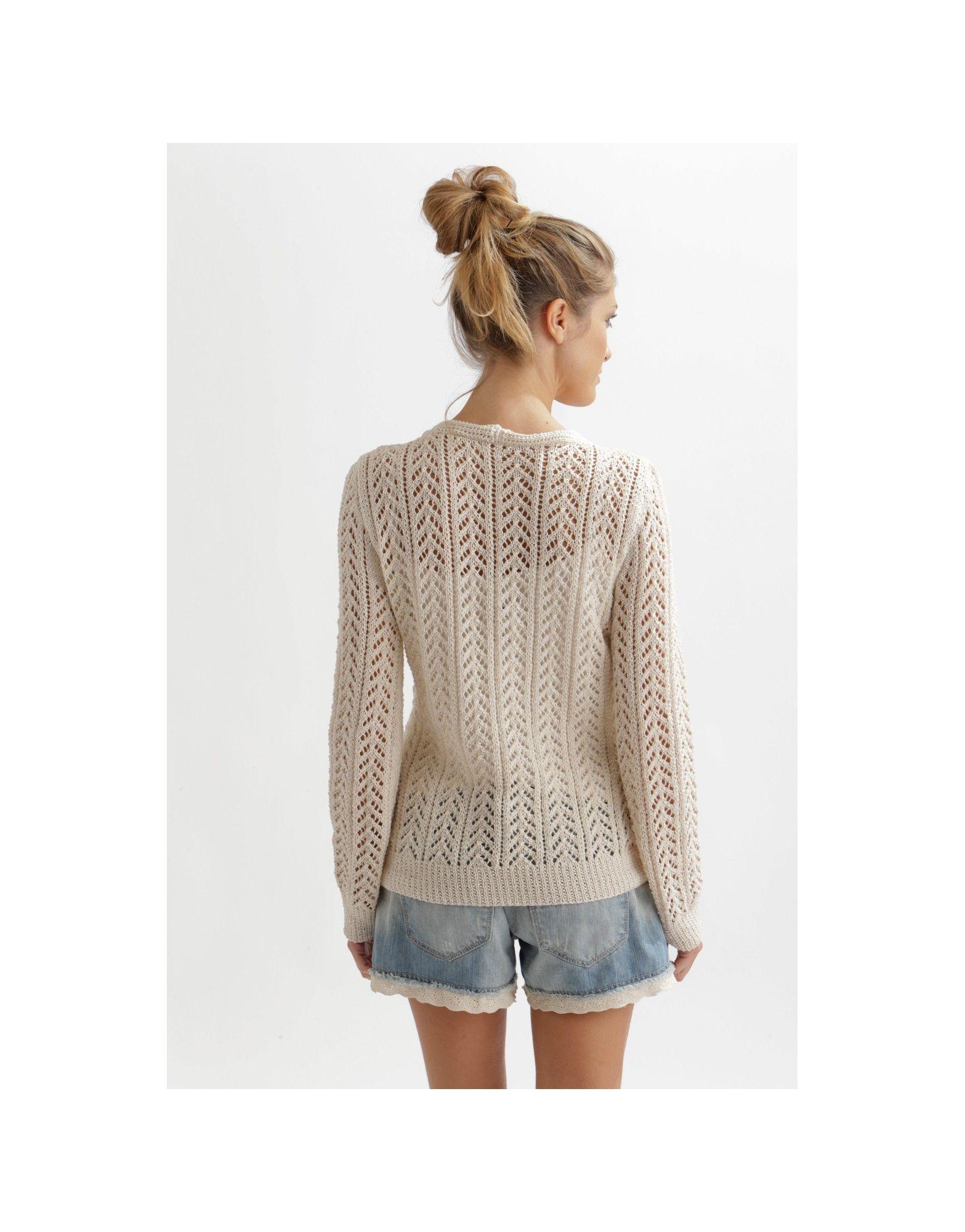 Arrow Lace Cardigan Free Knitting Pattern for Women - Free Download ...