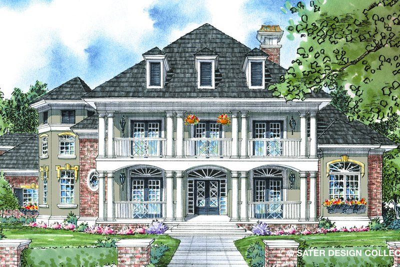 Southern Style House Plan 4 Beds 3 5 Baths 3613 Sq Ft Plan 930 270 House Plans Custom Home Plans Traditional House Plans