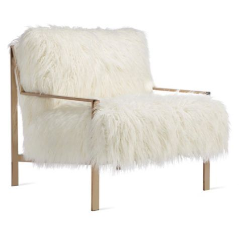 Axel Fur Accent Chair From Z Gallerie Accent Chairs Fur Chair