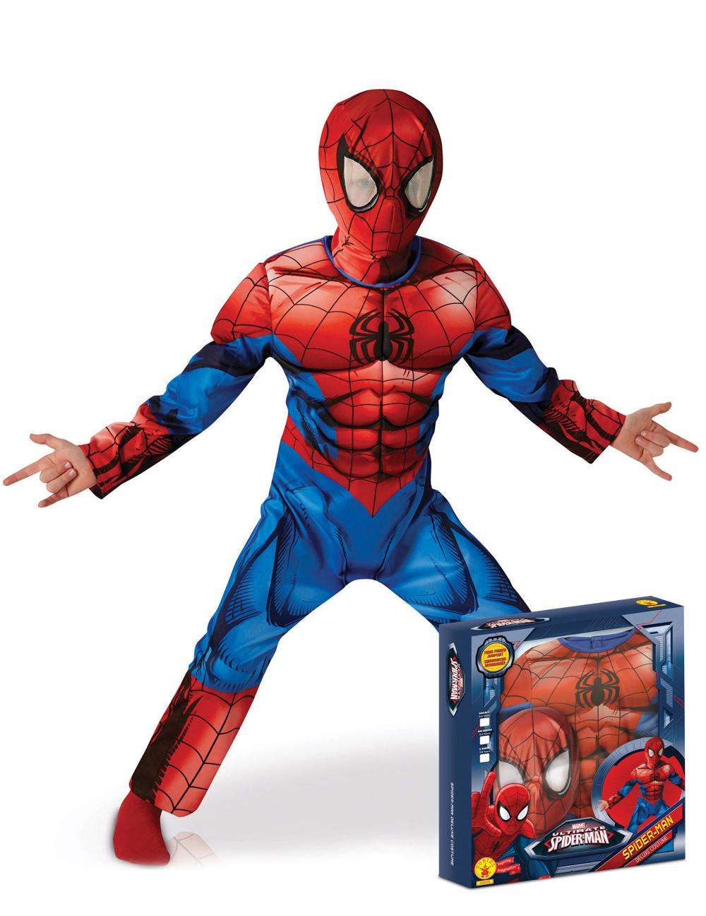 Disfraz de Ultimate Spiderman™ deluxe niño caja Disfraces
