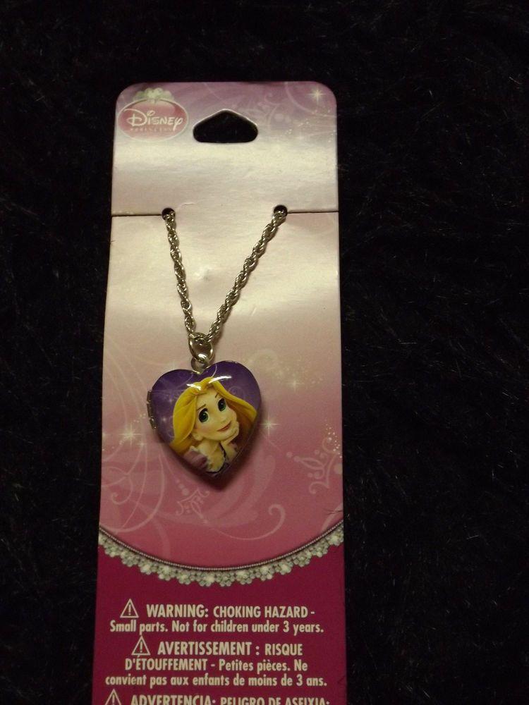 new Disney Tangles Rapunzel princess heart locket charm necklace fashion jewelry #Disney #necklace
