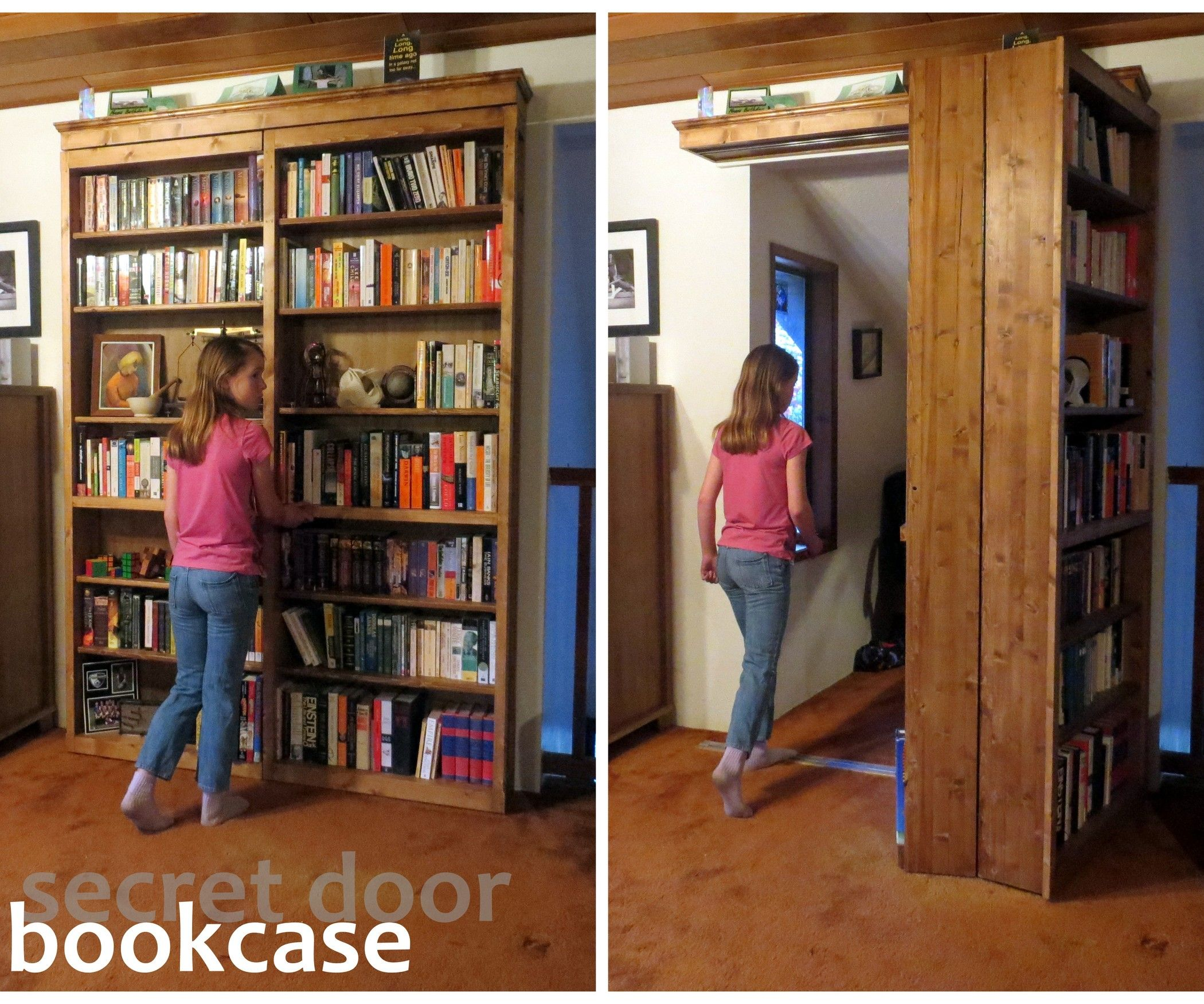 Who Doesn T Want A Secret Door Bookcase We Have E In Our Living Room That I Ve Been Planning To Conceal With Just Such For 10 Years But