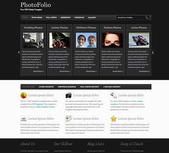 photography portfolio website free free portfolio html5 templates