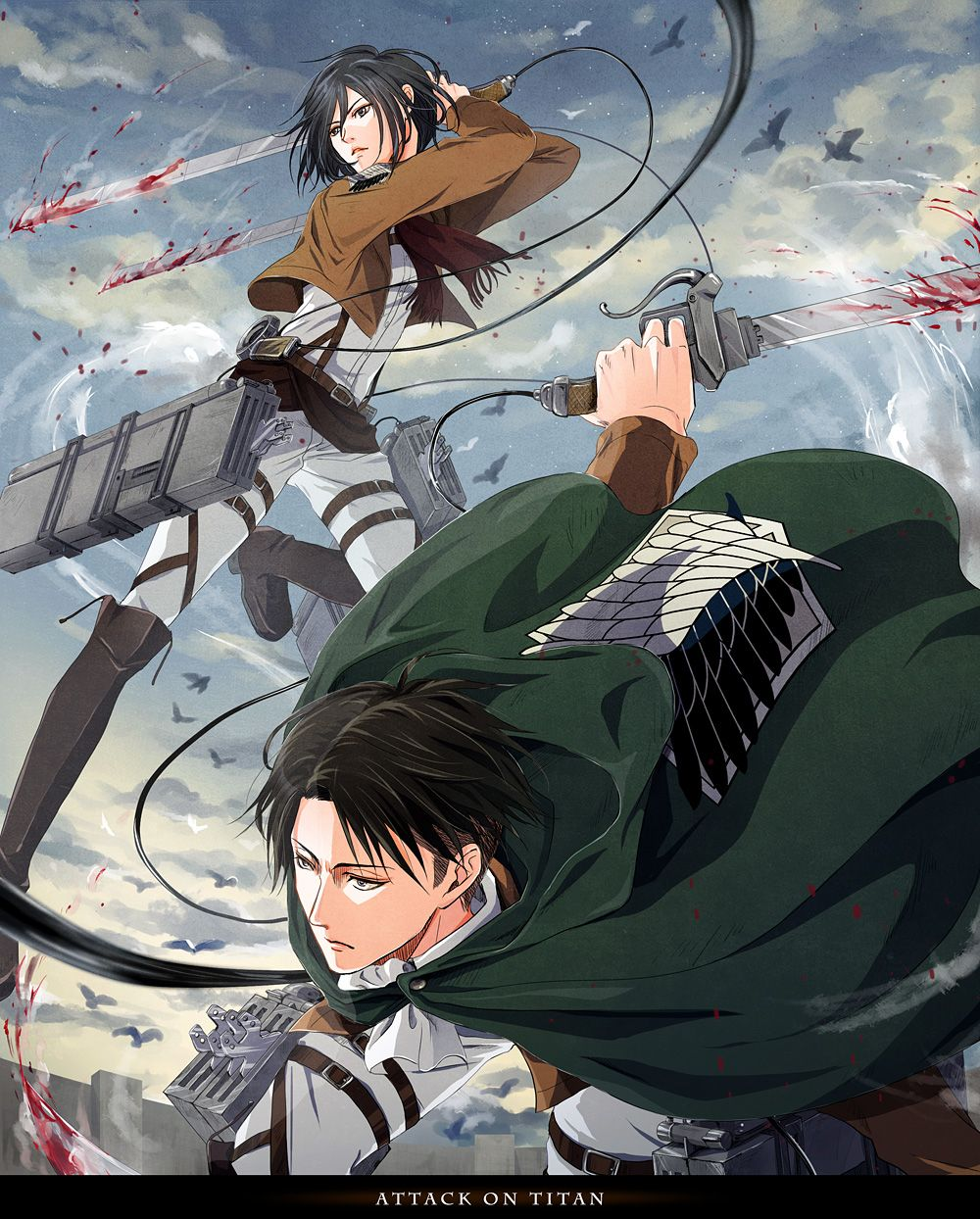 The secret moment of them - Animation 2 LEVI X MIKASA ... |Attack On Titan Levi And Mikasa