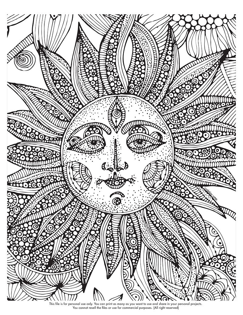 Drawing sun u moon pinterest adult coloring coloring books