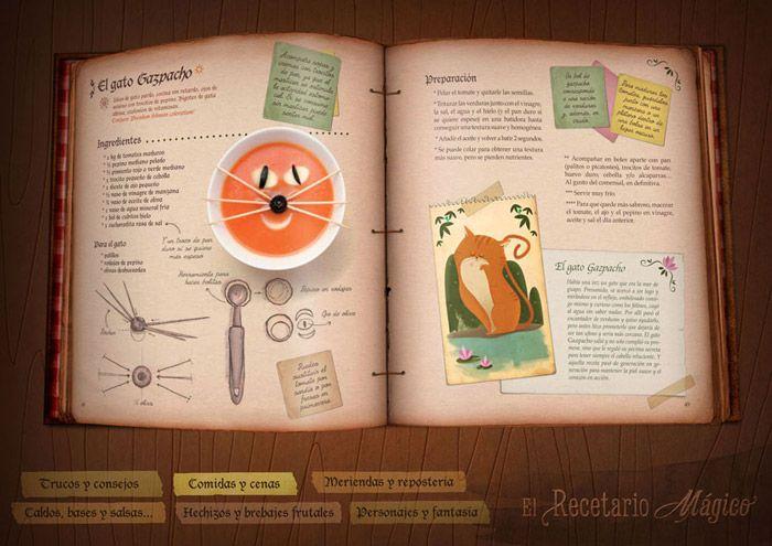 """Libro de recetas para niños """"El Recetario Mágico"""""""