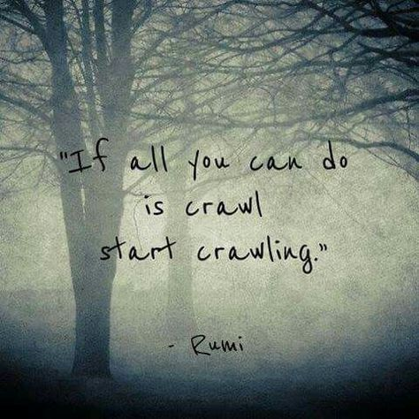 Charming Life Pattern: Rumi   Quote   If All You Can Do Is Crawl.