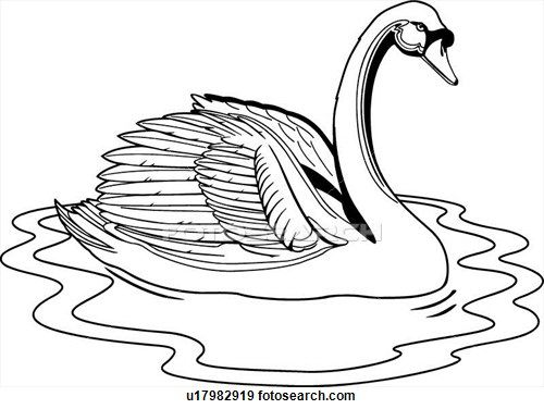 Swan landing line drawing vector clipart image - Free stock photo - Public  Domain photo - CC0 Images