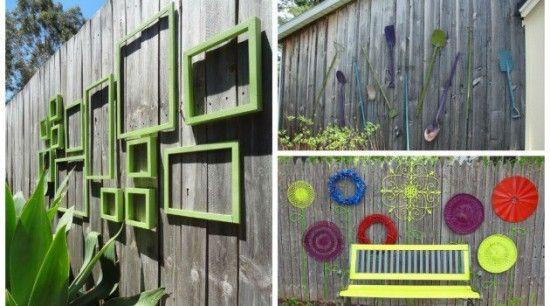 Diy Backyard Wooden Fence Decorating Ideas