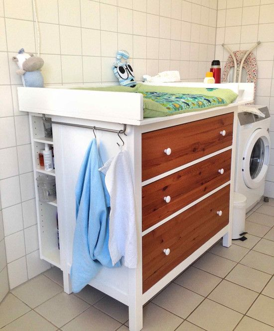 Diaper Changing Table Wickeltisch Ikea Hemnes Ikea Hackers In 2020 Diaper Changing Table Ikea Changing Table Hack Changing Table Dresser