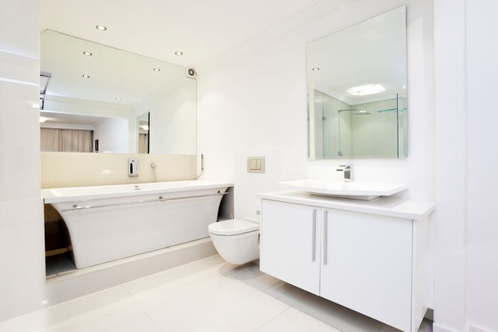 20 flawless all white bathroom designs