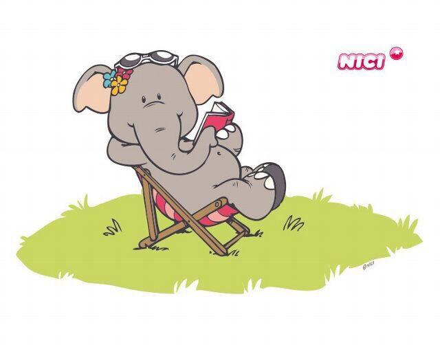 Frau im liegestuhl clipart  Elephant relaxin' | elephants | Pinterest