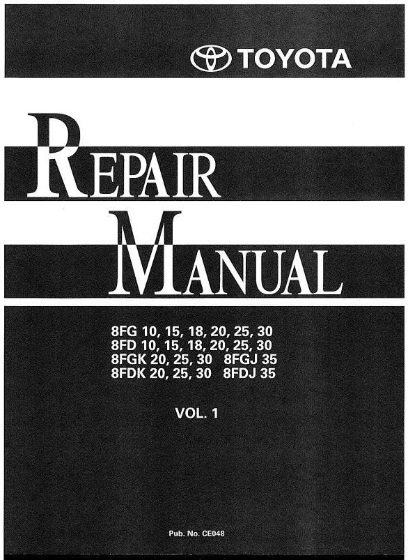 toyota truck 5fbc13 5fbc15 5fbc18 5fbc20 5fbc25 5fbc28 original illustrated factory workshop service manual for toyota lpg forklift 8 series original factory