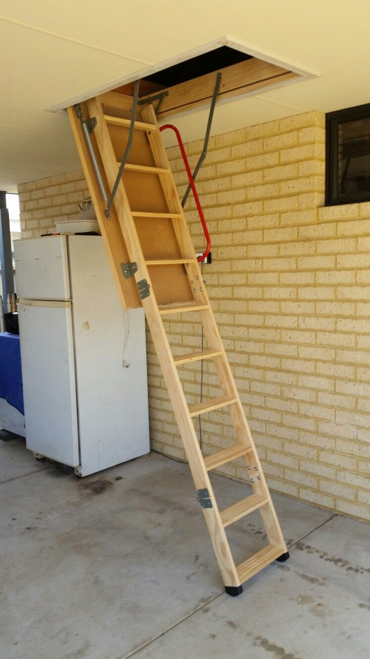 Best Wooden Attic Ladder Installed At Ellenbrook Perth Western 640 x 480
