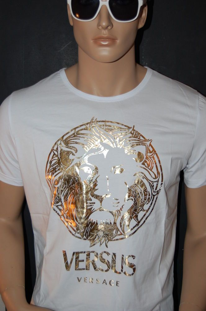 NWT VERSACE VERSUS COUTURE WHITE/GOLD MENS SHORT SLEEVE SHIRT/TOP ...