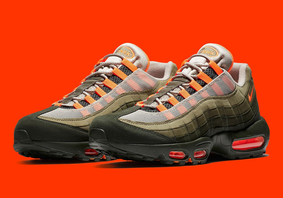 Nike Men Air Max 95 Og (string total orange neutral olive)