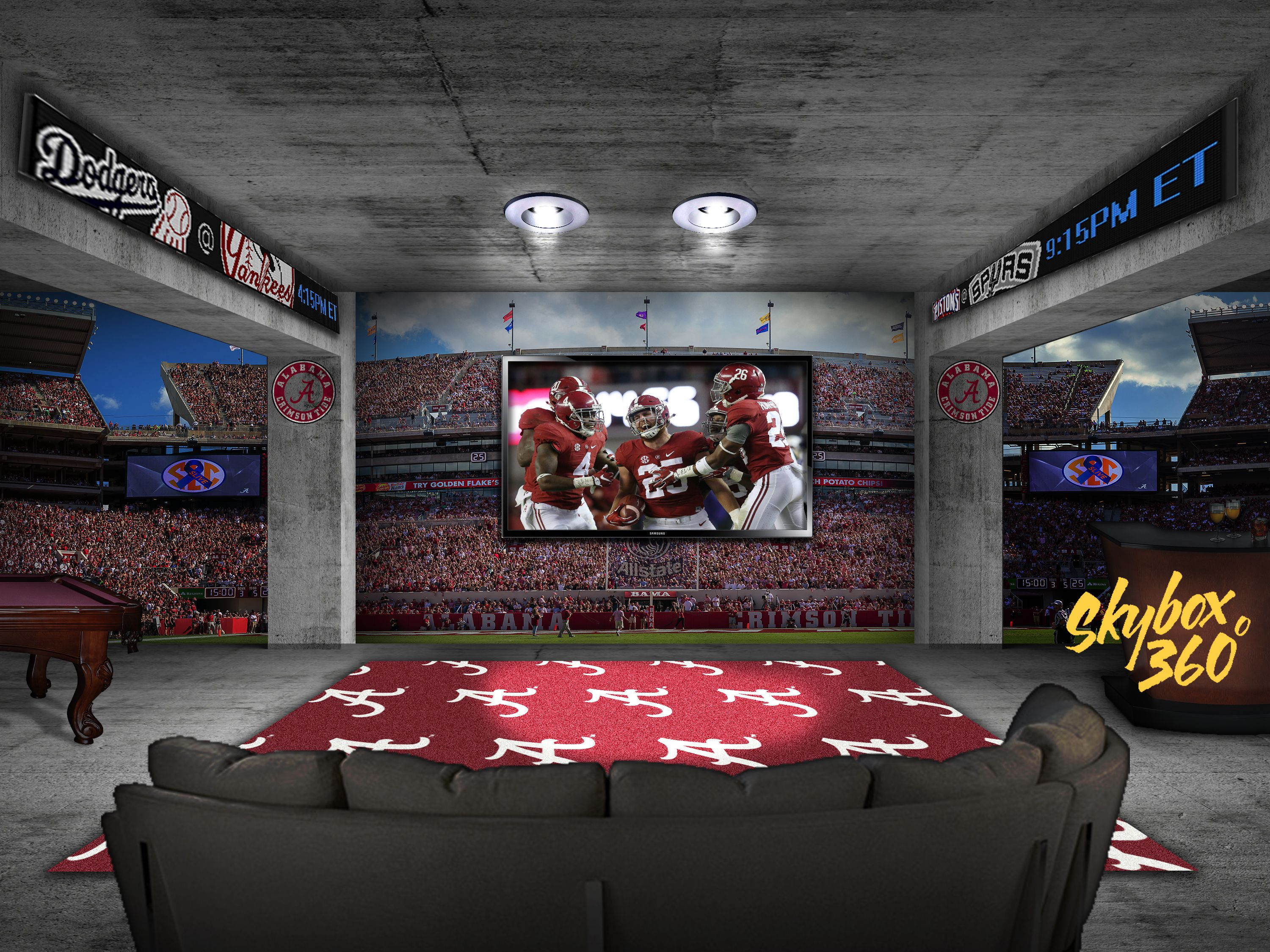 Man Cave Store Houston : Alabama man cave any sports room team to your walls