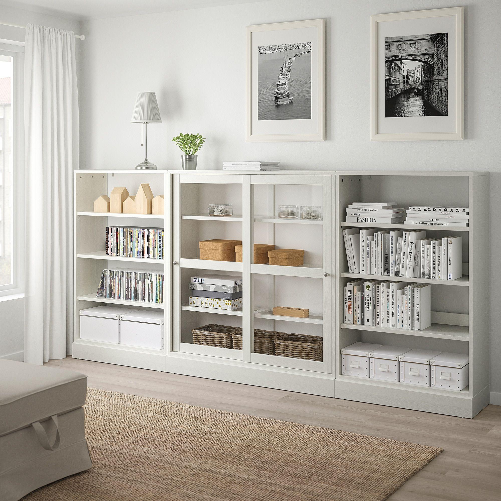 Ikea Havsta White Storage With Sliding Glass Doors Ikea Bookcase