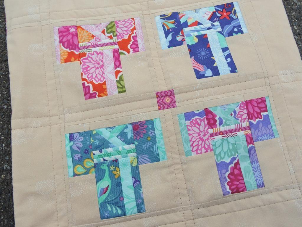 (7) Name: 'Quilting : Kimono Quilt Block - Paper Pieced
