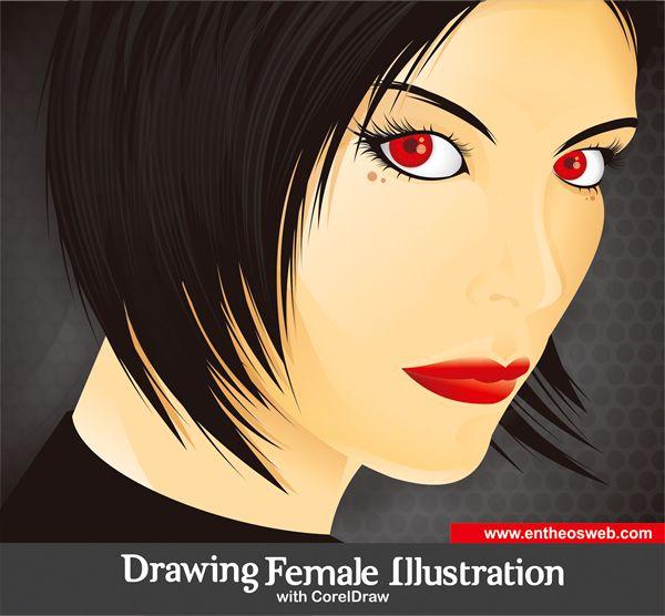 Line Art Corel Draw Tutorial : Drawing a female illustration with corel draw coreldraw