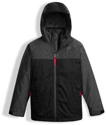 92cf3bb0b320 The North Face Boy s The North Face Chimborazo Triclimate 3-in-1 Jacket Tnf  Black Heather XS