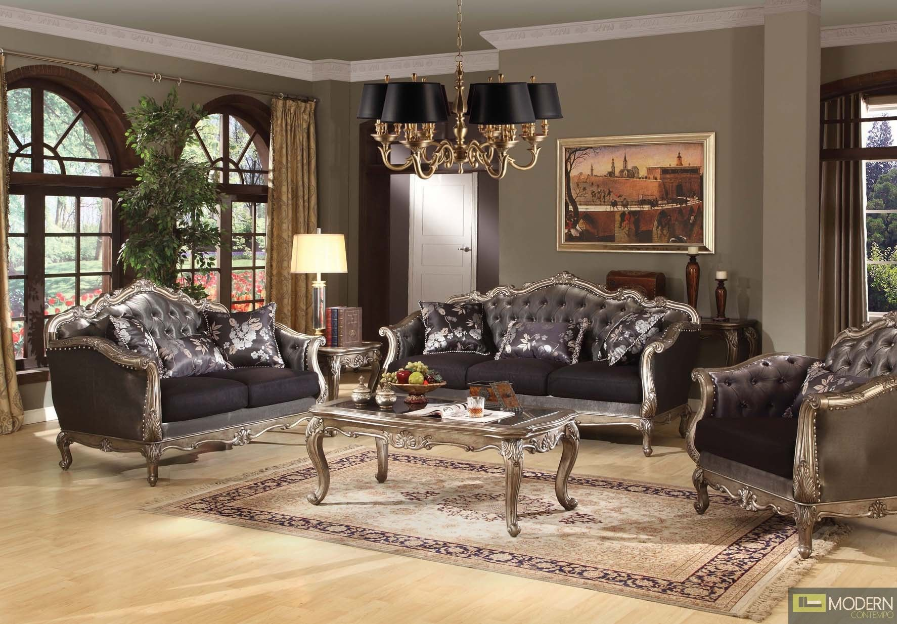 French Rococo Luxury Sofa Traditional Living Room Set