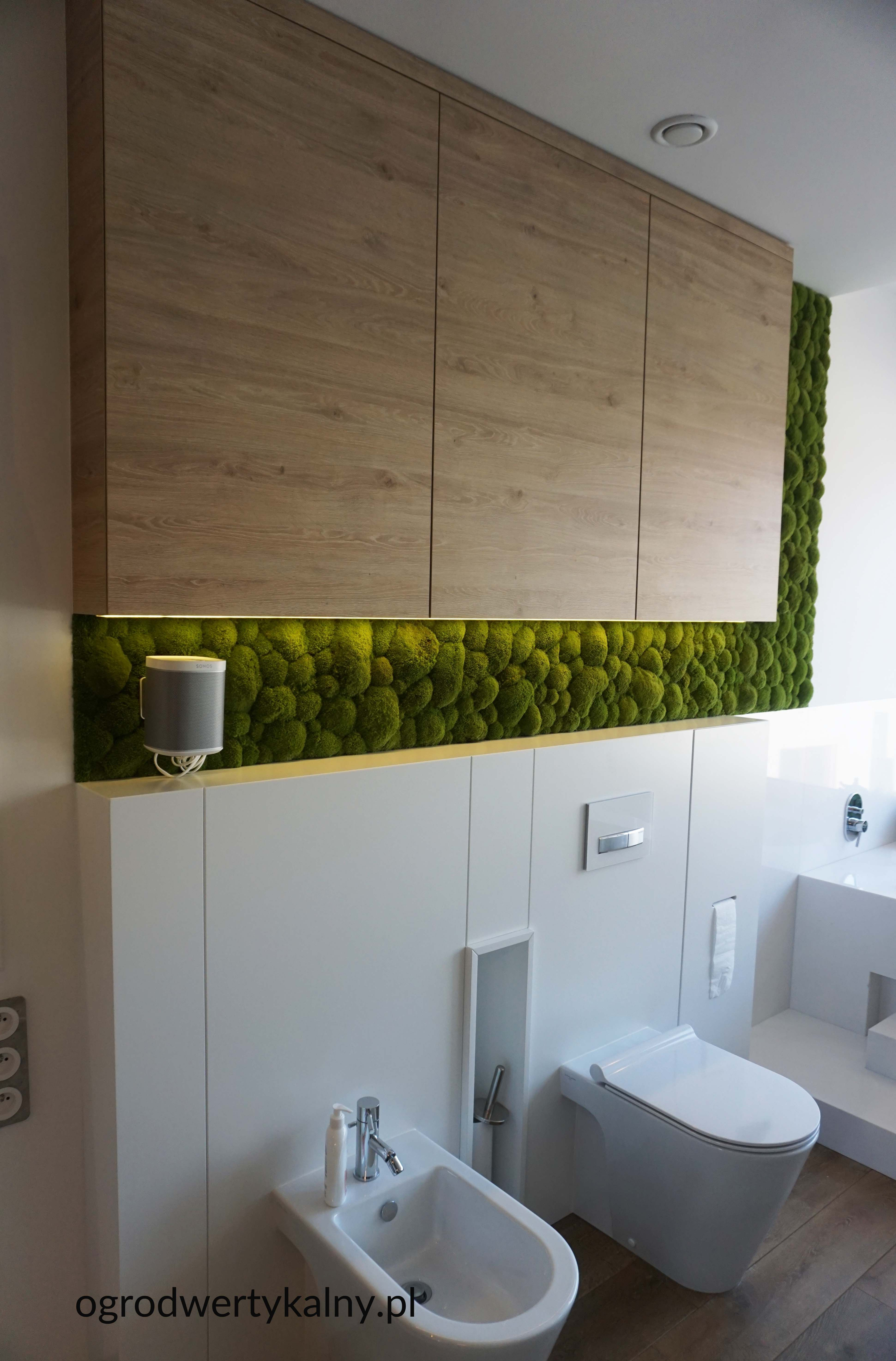 Mech Poduszkowy W Lazience Verticalgarden Zielonesciany Moss