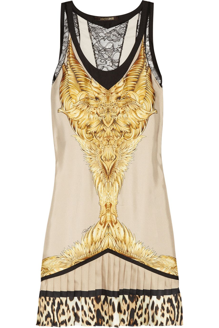 Roberto Cavalli Printed silk-twill mini dress. Roberto Cavalli Printed  silk-twill mini dress Gold Fashion, Fashion Night ... c6f5b2e891