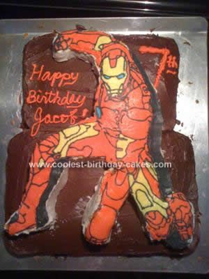 Cool Homemade Iron Man Birthday Cake for a Boy Iron man birthday
