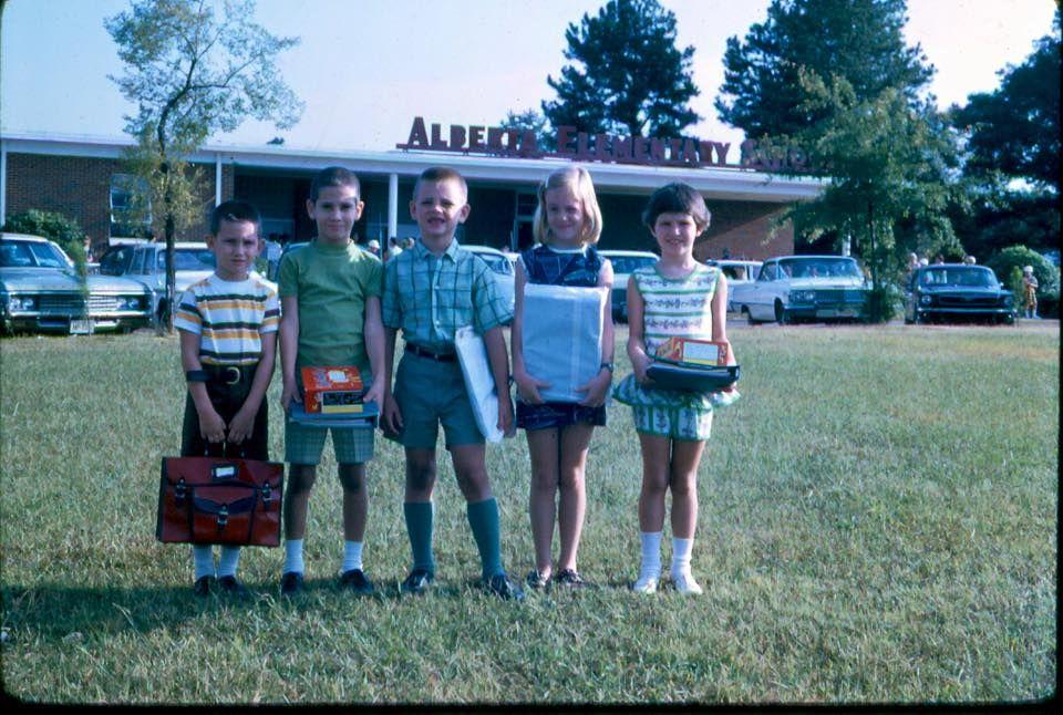 Alberta Elementary School, Original School in the 60's