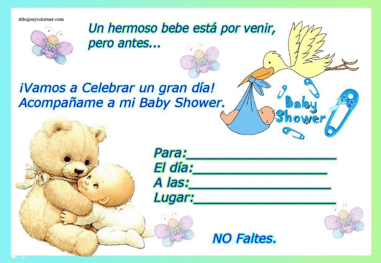 Invitaciones De Baby Shower Animadas   Invitaciones Para Baby Shower Ani...