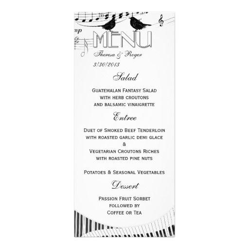 BW Musical Love Song Wedding Menu Card Rack
