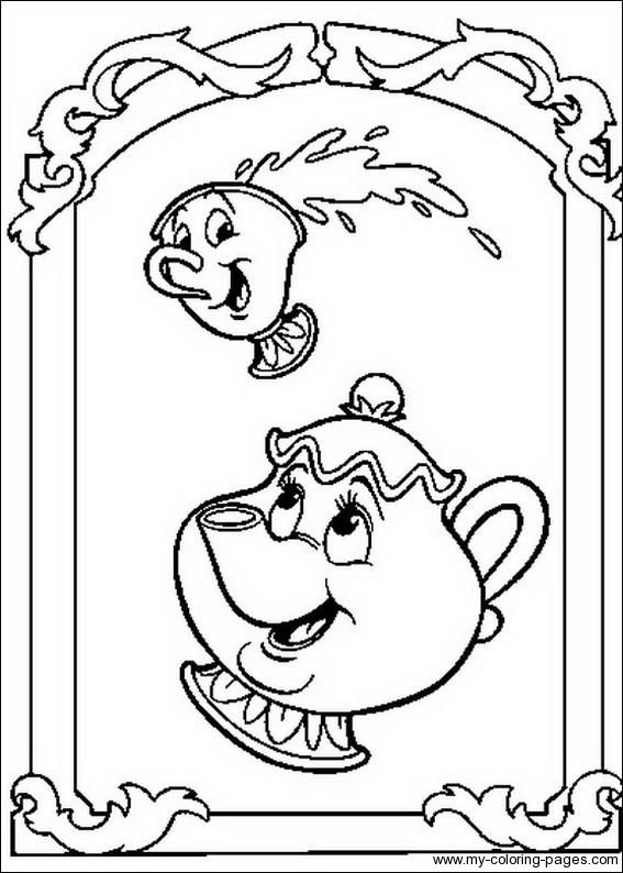 Beauty And The Beast Coloring Pages 001 Disney Coloring Pages