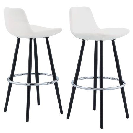 Remarkable Mainstays Upholstered Bucket Seat Bar Stool Set Of 2 White Machost Co Dining Chair Design Ideas Machostcouk