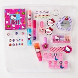 Girls Hello Kitty Cosmetic Pouch Set for just $11.25